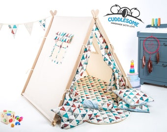 Teepee tent playhouse, best birthday gift, garden wigwam playhouse, kids tipi, kids tent, kids teepee, teepee play mat, kids room decor