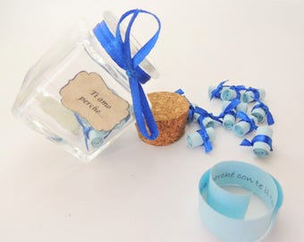 Jar Love messages I love you because... Gift Idea