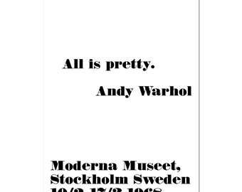 Andy warhol poster   Etsy
