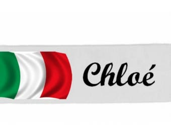 White girl Italy customized with name banner