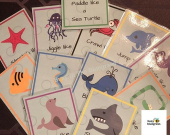 Sea Creatures Movement Cards