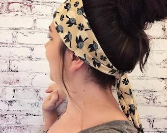 Blackbirds - Yellow - Eco Friendly Yoga Headband