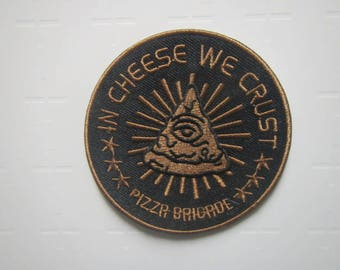 In Cheese We Crust - Pizza -  Iron on Patch