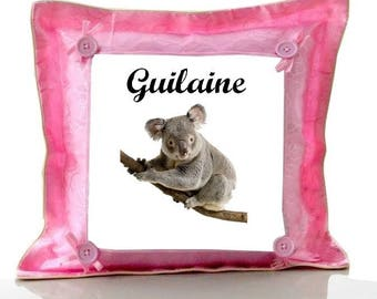 Cushion Pink Koala personalized with name