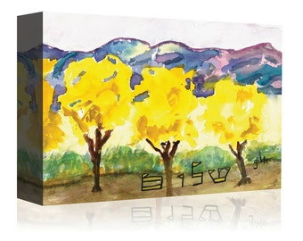 Judaic Art Print, Jewish Canvas Print, Hebrew Paintings, Shalom, Wall Art, Home Decor, Gift, Wedding, Bar Bat Mitzvah