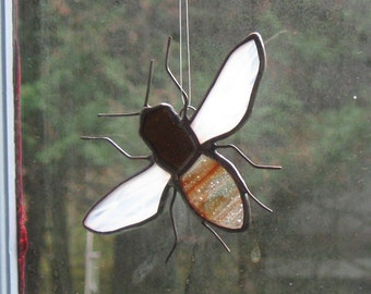 Stained Glass Honey Bee # 7