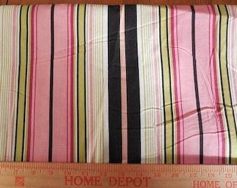 Destash- Home Decor Weight Striped Fabric Remnant