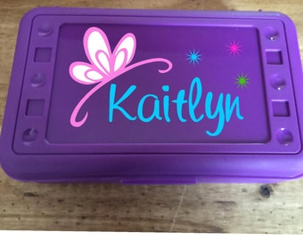 Back to School, Princess Tiara, Personalized Pencil Box, .