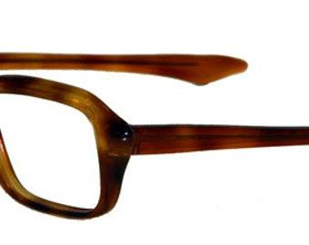 Vintage 1960's Amber Eyeglass Frames Never Used