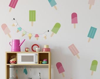 Wall Sicker - Decal- Vinyl Art  - Lollipops -  Home decor - Wall art - Nutmeg - Decoration - Contemporary - Ice creams - Kitchen - Teenager