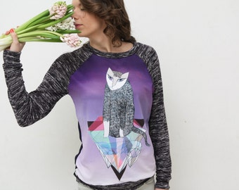 Diamond cat- sweatshirt