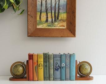 Vintage Globe Bookends - Shelf Decor