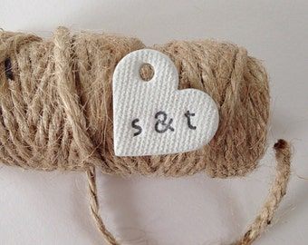 50 / 75 / 100 wedding favour tags / heart tags / wedding favours / wedding table centres / wedding decor