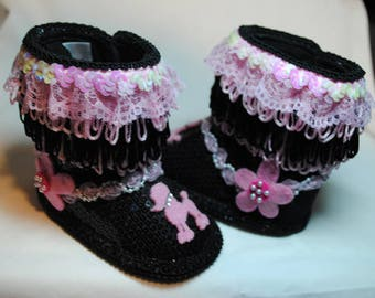 Puffy Poodle Girl's Baby Shoes 6-9 months