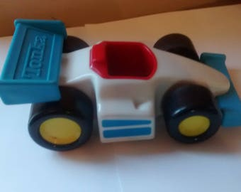 Vintage Tonka Blue & White Racecar