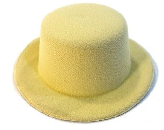 """5"""" Beige Mini Flocked Felt Top Hats - for dolls, fascinators, hair accessories, and more"""
