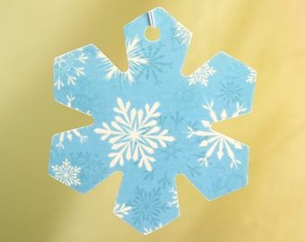 Blue Snowflake Car Air Freshener