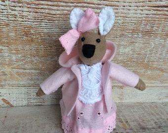 Felt rabbit, easter bunny, pink rabbit