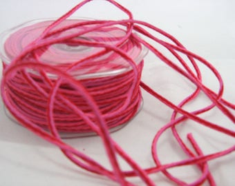 Pink red tone cord by the yard