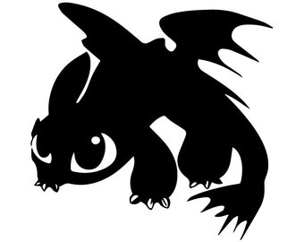 SVG Toothless, Toothless eps, Toothless silhouette, Toothless file, Toothless instant download, cutting files, Toothless silhouette files