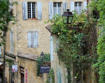 Sarlat Streets, French Countryside, Large Print Wall Art