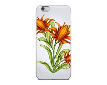 Colourful Orange Flowers iPhone Case | Bright Florals | iPhone 6/6s, 6 plus/6s Plus, 7/7 Plus, 8/8 Plus, X Case