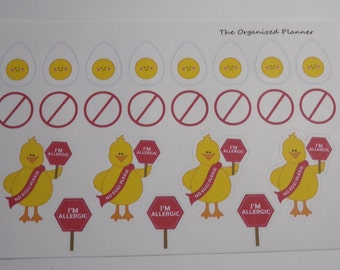 Egg Allergy Stickers