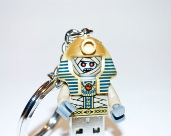 128GB Zombie Pharaoh USB Flash Drive with Key Chain