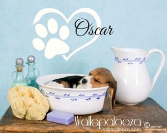 Pet Wall Decal - Dog Decal - Pet Name Decal - Pet Wall Decor - Decals for Pets - Wall Decals For Pets - Wallapalooza Wall Decals - Pets