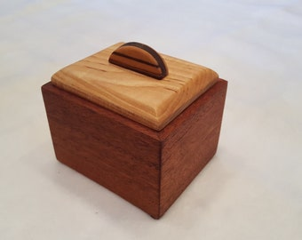 Wood Box, Mahogany and Curly Maple