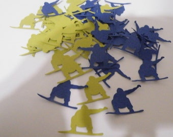 Confetti snowboarder lime green and dark blue + other colors available