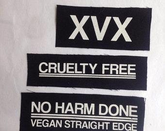 XVX vegan straight edge patch lot