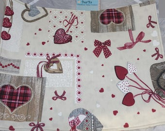 set of tables country patchwork pattern