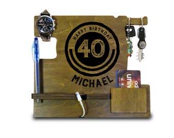 Mens Gift, Gifts for Men Anniversary, Boyfriend Anniversary Gift, Anniversary Gift for Husband, iPhone Stand, Dad 40th Birthday Gift