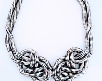 Silver rope eternity necklace