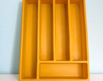 Harvest Gold Flatware Tray, Harvest Gold Utensil Tray, Harvest Gold Drawer Organizer, Harvest Gold Kitchen, Harvest Gold Silverware Tray