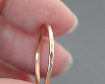 Rose Gold Ring stacking ring Thumb Ring hammered stackable ring bluebirdss jewellery Australia