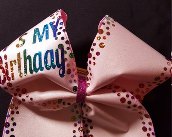 Its My Birthday Cheer Bow