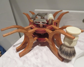 4 Brush and 5 Five Safety Razor Stand