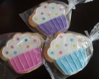 Cupcake Cookies - Pastels (1 dozen)