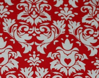 Red damask CL KNIT 1/2 yard