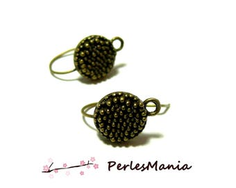 1 pair of earring pin Bronze ref 14 for jewelry making