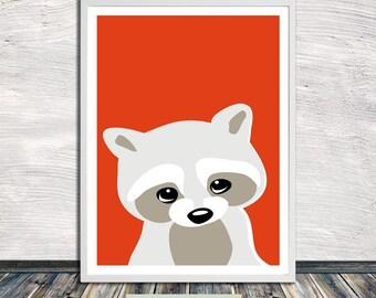 Cute animal print, peekaboo animal, nursery art, printable wall art, Instant Digital Download (for self printing)