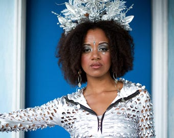 Ice queen crown headdress
