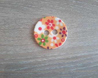 button out of acrylic flowers 4.5 cm in diameter