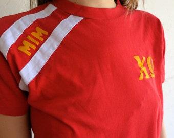 """Red """"Sorority"""" 50/50 Shirt"""