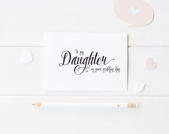 To my Daughter, To my Son on your Wedding Day Card - Handmade Card, Congratulations Card Mother to Daughter, Mother to Son Card - WC01