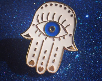 Limited edition Hand Of Hamsa Pin Badge