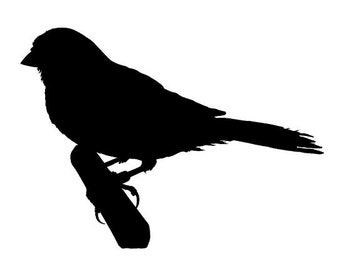 Finch v2 Silhouette Vinyl Decal Sticker - Choose your Color and Size