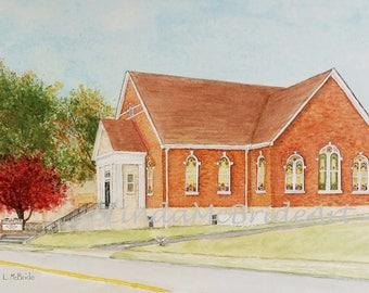 Church Memories (Newbern, TN) 3.5x5 Blank Notecard with Envelope
